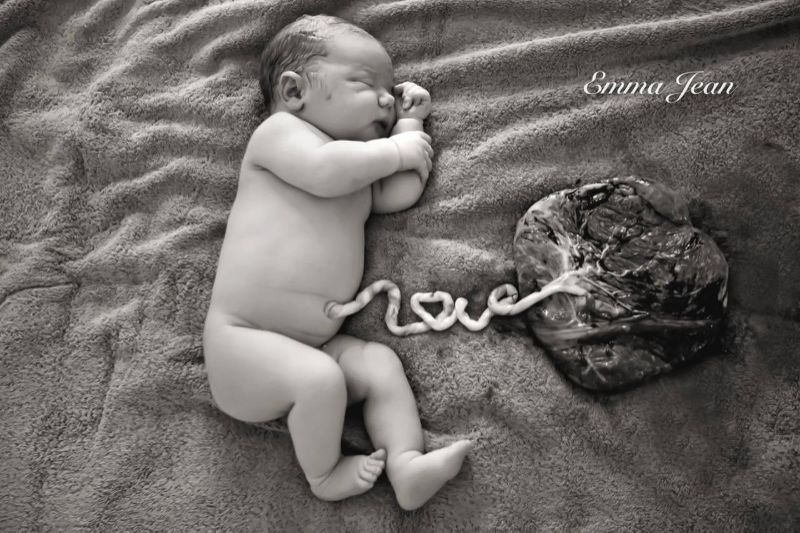 Umbilical Cord Love Placenta Emma Jean Photography