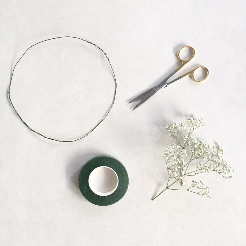 DIY Baby's Breath Flower Crown Tutorial The Merge Journal